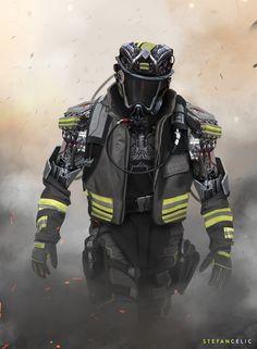 ArtStation - Mech Firefighter, Stefan Celic