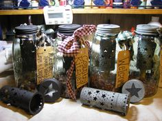 Primitive Half Gallon Mason Jar tart warmer by everythingcountry, $28.99