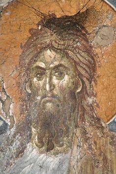 Byzantine Art, Byzantine Icons, Fresco, Church Icon, John The Baptist, Art Icon, Orthodox Icons, Color Pallets, Moose Art