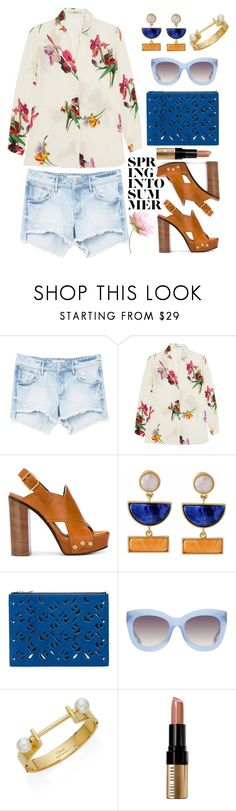 """Summer"" by thestyleartisan ❤ liked on Polyvore featuring MANGO, Etro, Chloé, Kakao By K, Kenzo, Alice + Olivia and Bobbi Brown Cosmetics"