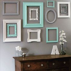 Upcycled Picture Frames | #UpcycledPictureFrames | Wall Display