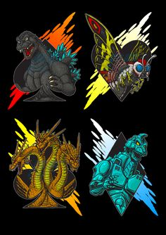 Kaiju Suits by AlmightyRayzilla on DeviantArt Godzilla Tattoo, Big Lizard, Strange Beasts, Japanese Superheroes, Japanese Film, Tyrannosaurus Rex, Cool Art, Street Art, Witch