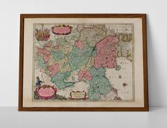 Old Map of Saxony, originally created by Willem Janszoon Blaeu, now available as a 'museum quality' vintique wall decoration print. Historical Maps, Antique Maps, Travel Posters, Giclee Print, Vintage World Maps, Germany, Wall Decor, Europe, Antiques
