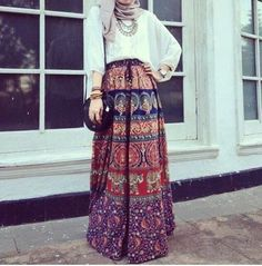 69 Ideas Skirt Hijab Outfit Modest Fashion For 2019 Hijab Casual, Hijab Outfit, Hijab Chic, Modest Wear, Modest Dresses, Modest Outfits, Summer Outfits, Modest Summer Fashion, Summer Fashion Trends