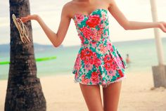 flirty floral playsuits