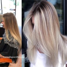 Before and After Her Balayage always grows out so beautifully but we decided to give her a little extra love Full Head of Balayage…