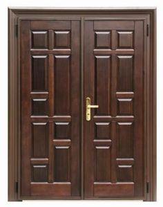 15 Main Entrance Door Design Ideas - The Wonder Cottage Wooden Front Door Design, Wooden Double Doors, Main Entrance Door Design, Double Door Design, Wooden Front Doors, Front Door Entrance, Entrance Ideas, House Entrance, Door Ideas