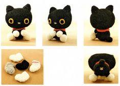 черный кот амигуруми
