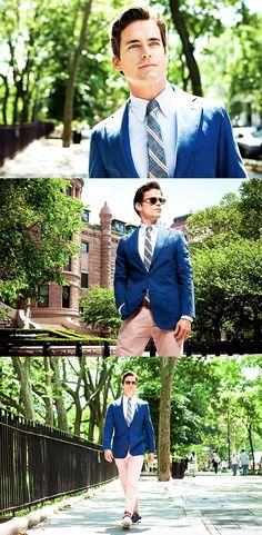 Matt Bomer as fashion icon Neal Caffrey.