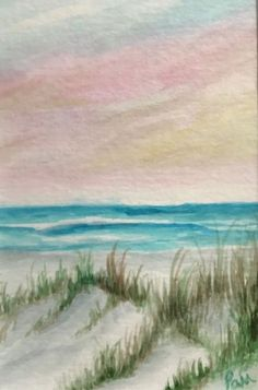 """Buy Beach Dunes, watercolor 4""""x6"""", Watercolor by Pamela Long-Cauley on Artfinder. Discover thousands of other original paintings, prints, sculptures and photography from independent artists."""