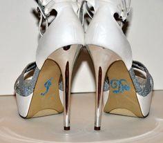 Unik Occasions - Crystal Rhinestone I Do Wedding Shoe Stickers - Baby Blue Something blue