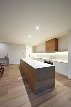 Gorgeous appeal adds to the style of the sleek kitchen