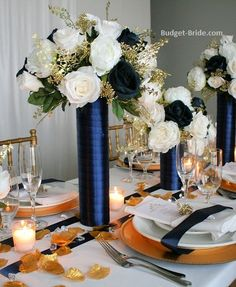 Image result for burgundy and navy wedding centerpieces