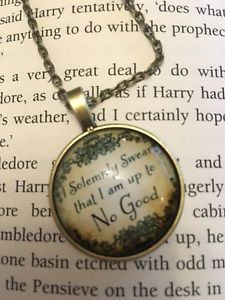 Harry Potter Inspired I Solemnly Swear That I Am Up To No Good Necklace Cabochon | eBay
