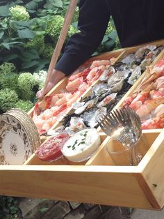 "Mobile Party Raw Bar  ""Hawkers"" Bring to Guests~ www.entertainingcompany.com"
