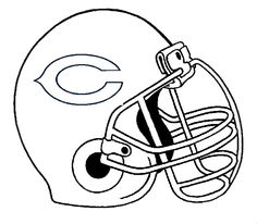 bears helmet coloring pages - photo#2