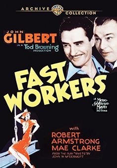 Robert Armstrong and John Gilbert in Fast Workers (1933)