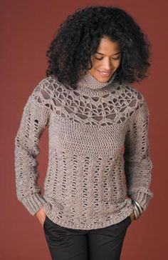 Free Crochet Pattern: Side-To-Side Cowl Neck Sweater ...