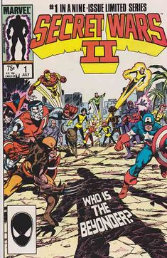 Secret Wars II is a nine-issue comic book limited series and crossover published from 1985 to 1986 by Marvel Comics . The series was written by Marvel's then Editor-in-chief Jim Shooter and primarily pencilled by Al Milgrom .