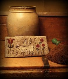 E Pattern Folk Art Sheep Punch Needle by TeresasPrimTreasures on Etsy