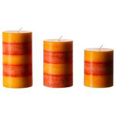 RANDIG Scented block candle, set of 3 - IKEA