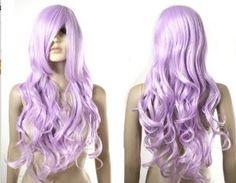 24/'/' Single Curl Amethyst Purple Cosplay Wig NEW