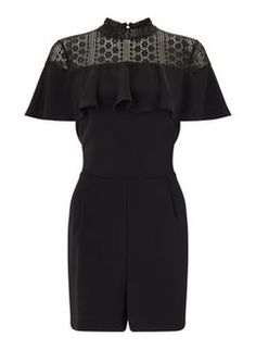 Lace Ruffle Playsuit
