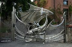 This is a dragon gate located somewhere in Dublin, Ireland