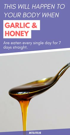 Do you want to know what'll happen to your body when garlic and honey are eaten every single day for 7 days straight. Find out now! www.howtoliveintheus.com