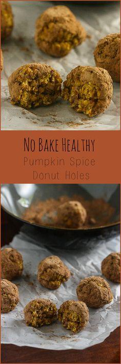 No Bake Healthy Pumpkin Spice Donut Holes from Lauren Kelly Nutrition