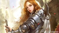 Fantasy girl warrior Knight of Serra Dnd Characters, Fantasy Characters, New Artists, Music Artists, Protectors Of The Earth, Two Steps From Hell, Warrior Girl, Speed Paint, Music Mix
