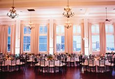 The Room on Main. Love this pallet and set up, so romantic and really show cases the beauty of the venue itself and those gorgeous huge windows.