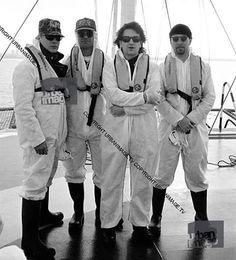 #U2History - 20th June 1992: @u2 protest against the #Sellafield nuclear plant for Greenpeace International on the coast of the Irish Sea in #Cumbria, #England. Photos By: ©Adrian Boot / urbanimage.tv VIA: urbanimage.tv #U2NewsIT #U2 #u2memes #Bono #BonoVox #TheEdge #AdamClayton #LarryMullenjr #rockband #band #rock #music #rockmusic #90s #90sstyle #90smusic #90srock #greenpeace