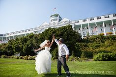 Get married at Mac Island on Grand hotel porch
