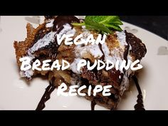 Vegan Chocolate Bread Pudding Recipe MUST SEE Do you end up picking canned food or dry foodstuff? Vegan Bread Pudding, Brioche Bread Pudding, Chocolate Bread Pudding, Bread And Butter Pudding, Pudding Cake, Pudding Recipes, Vegan Chocolate, Cake Chocolate, Vegan Recipes