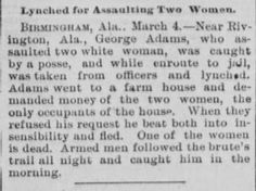 Genealogical Gems: On This Day: Alabama man lynched http://genealogybyjeanne.blogspot.com/2015/03/on-this-day-alabama-man-lynched.html?spref=tw #OnThisDay #history #genealogy
