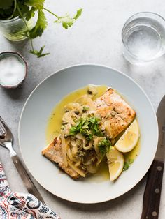 A simple grilled fish takes minutes to prepare, making it easy for weeknights! This Grilled Mahi Mahi with Onions and Capers is full of flavor and can be made in about 15 minutes. #seafood #fish #mahimahi #recipe