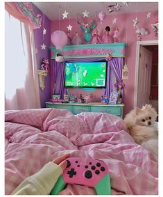 Girl Bedroom Designs, Room Ideas Bedroom, Bedroom Decor, Cute Room Ideas, Cute Room Decor, Pastel Room, Pink Room, Kawaii Bedroom, Gaming Room Setup