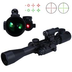 46.95$  Buy here - http://ai6n6.worlditems.win/all/product.php?id=32723901879 - High Quality 3 - 9X40 EG Hunting Tactical Riflescope Red / Green Laser Hunting Optics Sniper Scope Sight Rifle Scope For Hunting