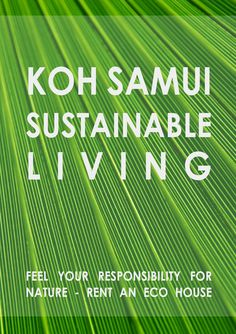 KOH SAMUI SUSTAINABLE LIVING - Luxury Eco villa available for rent - save our planete = choose an eco house.