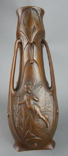 Art Nouveau Bronze Fairy Vase