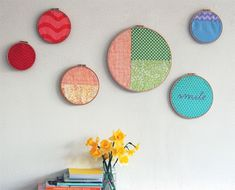 Create a Gorgeous Display of Rainbow Hoop Wall Art (via a href=http://craft.tutsplus.com/tutorials/embroidery/create-a-gorgeous-display-of-rainbow-hoop-wall-art/craft.tutsplus.com/a)