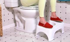 The Step and Go Toilet Stool elevates the feet, mimicking the posture and efficiency of natural squatting for more comfortable and effective waste elimination