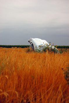 car, boho, and flowers image
