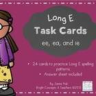 This set of Long E vowel task cards is great for word work, spelling review, phonics practice and challenging your early finishers.  This set of 24...