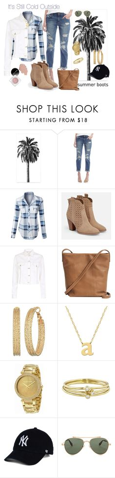 """""""Fall to summer booties"""" by norma-licata ❤ liked on Polyvore featuring Joe's, LE3NO, JustFab, Maje, BAGGU, GUESS, Jane Basch, Michael Kors, Jennifer Meyer Jewelry and Givenchy"""