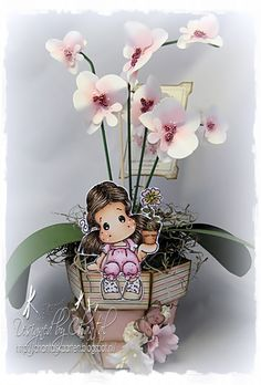 Cards made by Chantal: Selfmade orchid plant for Father's Day