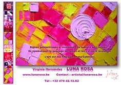 """""""For me, the world evolves in the middle of a perfect geometry. My spatula's squares represents cycles in time, in inter-linked figures. The spiral becomes a source of light that turns inward, towards the absolute; the circle in identical instants, the square in order of the Universe"""" Luna Rosa"""