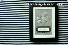 monogram art {tutorial} | Jones Design Company