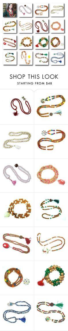 """Bohemian Spiritual Beads Necklace Jewelry"" by tarini-tarini ❤ liked on Polyvore featuring Kundalini and Lazuli"